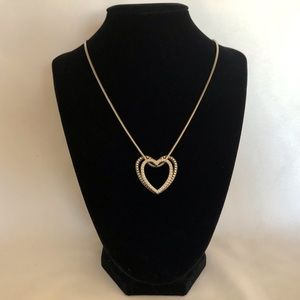 Brighton Floating double heart pendant necklace